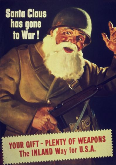 Santa Claus Has Gone to War. Propaganda WW2 1942 Print/Poster (5420)